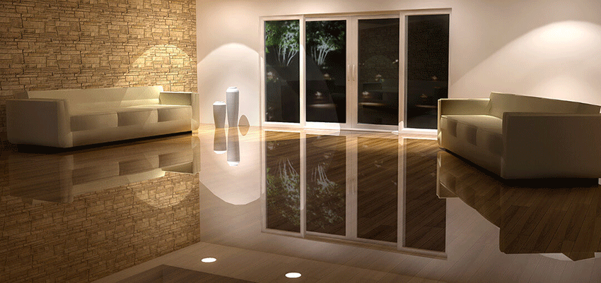ez-clear flooring system adds perfectly to elegant interior design of a modern apartment