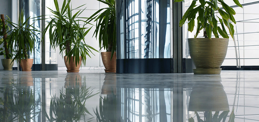 ez-clear fits modern office building floors perfectly while reflecting modern look of the space