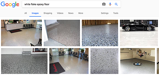 EZ-Flake flooring system inspiration variations in google search