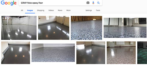 Google search of EZ-Flake flooring system possibilities